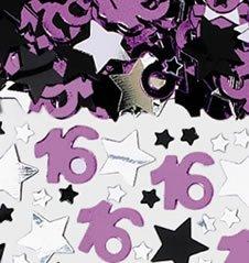 Streukonfetti Sweet 16: Zahl 16 und Sterne, 71 g - 1
