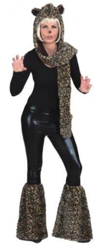 Stulpen: Fellstulpen, Leopardenmuster - 2