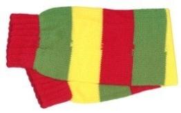 Stulpen, rot-grün-gelb geringelt, Einheitsgröße - 1