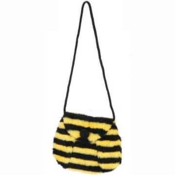 Tasche: Bienentasche, gelb-schwarz geringelt - 1
