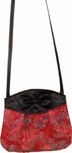 Tasche: China-Tasche, gemustert, rot-schwarz - 1