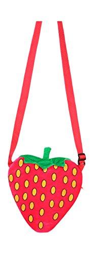 Tasche: Erdbeer-Tasche, rot - 1