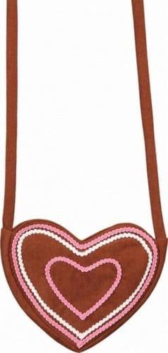 Tasche: Herz-Tasche, braun - 1
