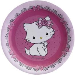 """Teller: Pappteller, """"Charmmy Kitty"""", 18 cm, 8er-Pack - 1"""