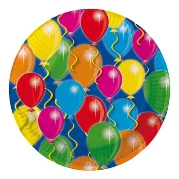 Teller: Pappteller, Serie Balloons, 23 cm, 8er-Pack - 1