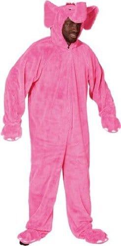 Tierkostüm: Elefant-Overall, pink, Größe 54/58 - 1