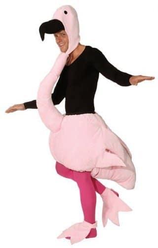 Tierkostüm: Flamingo-Overall, Einheitsgröße - 1