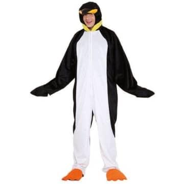 Tierkostüm: Pinguin-Overall mit Kapuze, Einheitsgröße - 1