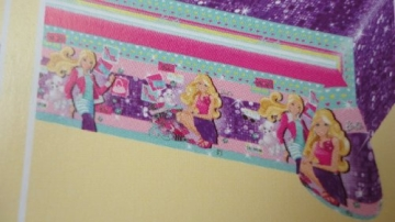 """Tischdecke: Tischtuch, Kunststoff, Motiv """"Barbie Fashion"""", 120 x 180 cm - 1"""
