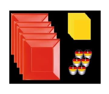 Tischdecke: Tischtuchrolle, Papier, schwarz-rot-gold, 10 m lang, 1 m breit - 2
