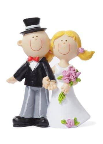 Tischdeko: Brautpaar, 90 mm - 1