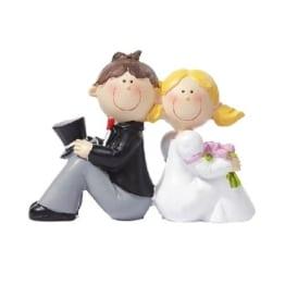 Tischdeko: Hochzeitspaar, 40 mm - 1