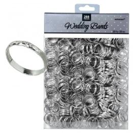 Tischdeko: kleine Hochzeitsringe, silber, 288 Stück - 1