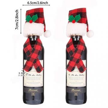 Tischdeko Weihnachten Bestecktasche Schneeflocken Untersetzer 3