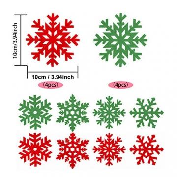 Tischdeko Weihnachten Bestecktasche Schneeflocken Untersetzer 4