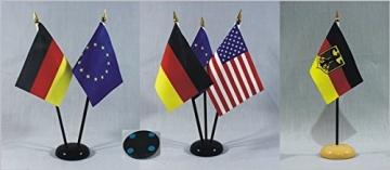 Tischflagge Europa Europaflagge 15x10 cm (S) mit Tischflaggenständer aus Polyester schwarz, extrem standfest - 3