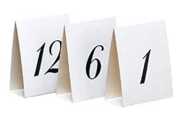Tischkarten: Platznummern von 1 bis 12, 12,5 x 10 cm, schwarz bedruckt - 1