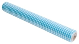 Tischläufer: Tischdecke bzw. Tisch-Sets, blau kariert, 360 x 40 cm, perforiert - 1