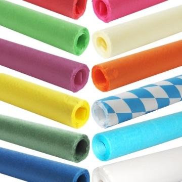 Tischtuch: Damasttischtuchrolle aus Papier, bordeaux, 8 x 1 m - 4