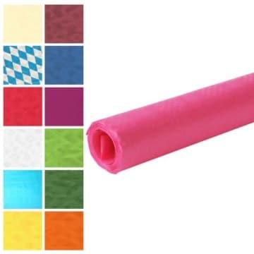 Tischtuch: Damasttischtuchrolle aus Papier, pink, 8 x 1 m - 1