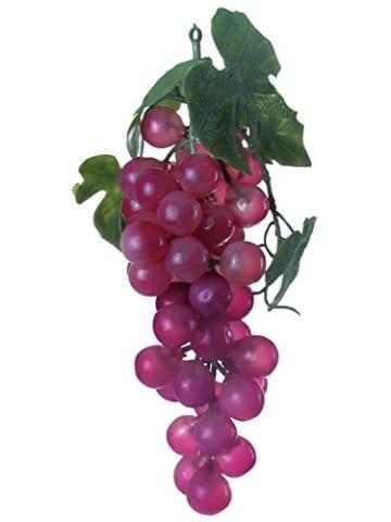 Trauben mit Blättern, rot 1 Stück - 1