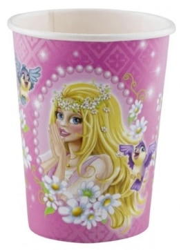 Trinkbecher: Pappbecher, Prinzessin, 250 ml, 8er-Pack - 1