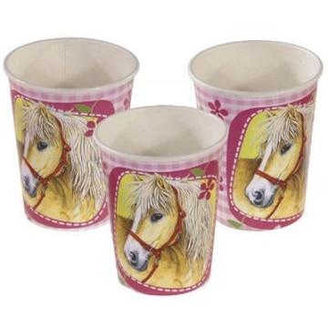 Trinkbecher: Partybecher mit Pferde-Motiv, 8er-Pack - 1