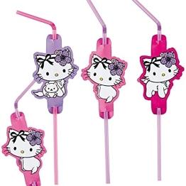 Trinkhalme: Strohhalme, Charmmy Kitty mit Herzen, 24 cm, 8er-Pack - 1