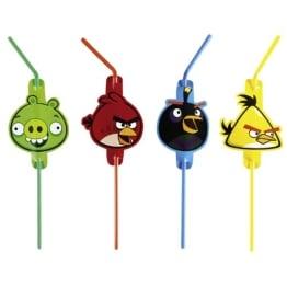 """Trinkhalme: Strohhalme, Motiv """"Angry Birds"""", 8 Stück - 1"""
