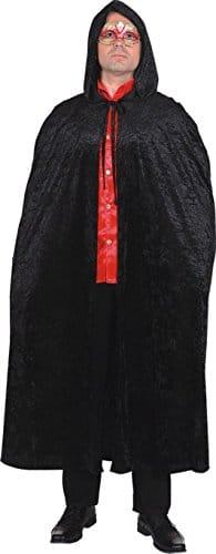 Umhang mit Kapuze, schwarz, Einheitsgröße - 1