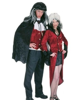 Vampir-Set: Hemd, Weste, Umhang - 1