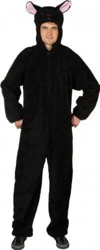 Verkleidung: schwarzer Schaf-Overall, Größe 170 cm/185 cm - 1