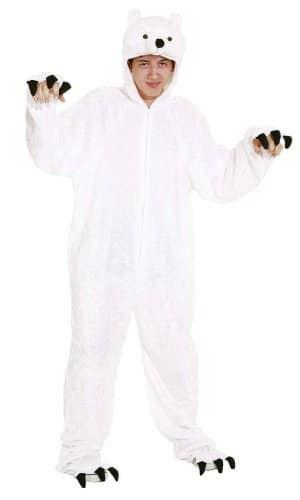 Verkleidung: weißer Eisbären-Overall, Größe 54/58 - 1