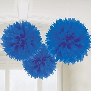 Wabenball blau 28cm, Restposten Partydeko - 1
