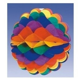 Wabenball in Regenbogenfarben, 28 cm - 1