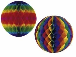 Wabenball, Regenbogenfarben, bunt, 60 cm - 1