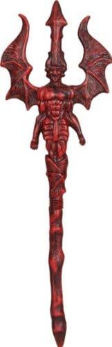 Waffe: Teufel-Dreizack, schwarz-rot - 1