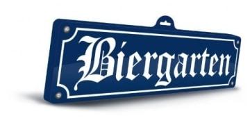 "Wanddeko: Schild ""Biergarten"", 3D, 48 x 15 cm - 1"