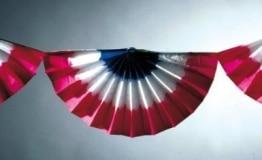 Wandgirlande, rot-weiß-blau, 3 m - 1