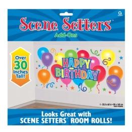 """Wandtattoo: Riesen-Deko-Folie, """"Happy Birthday"""" mit Luftballons, 85 x 165 m - 1"""