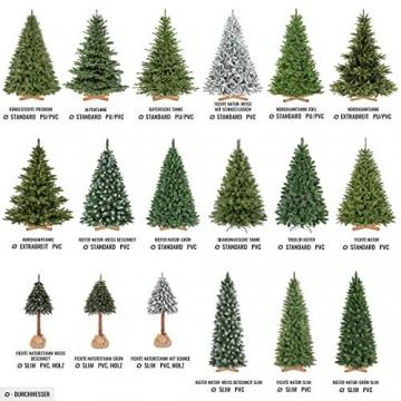 Weihnachtsbaum bayrische Tanne Premium Qualität, grün oder weiß 7