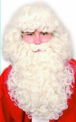 Weihnachtsmann-Kostümierung: Bart und Perücke, exklusiv (SET-30201) - 1
