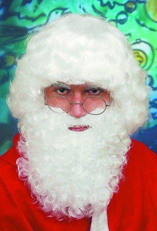 Weihnachtsmann: Perücke und Bart für Nikolaus und Weihnachten (SET-30199) - 1