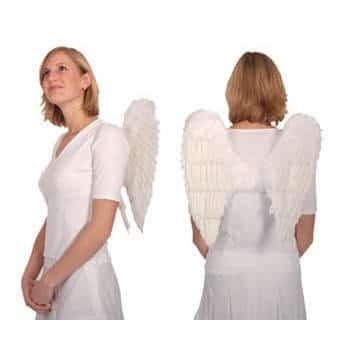 Weiße Engelflügel aus Federn, 40 cm - 1