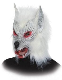 Werwolf-Maske weiß - 1