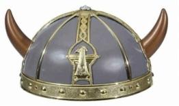 Wikinger-Kostüm, Kinder-Helm mit Hörnern, blau - 1