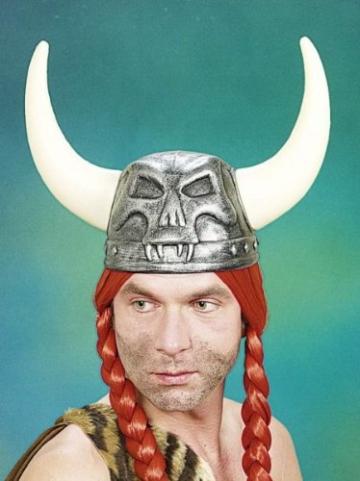 Wikingerhelm: Helm mit Hörnern, Kunststoff - 2