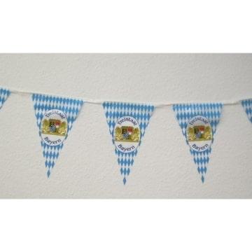Wimpelkette: 4 m, blau-weiße Rauten mit Wappen - 1