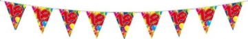 Wimpelkette: Girlande mit 15 Wimpeln, 18. Geburtstag, 10 m - 2