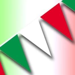 Wimpelkette, grün-weiß-rot, 4m - 1